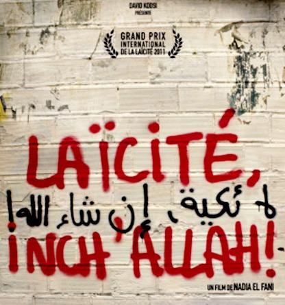 Affiche du film laicite inch allah dde Nadia El Fani