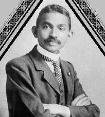 Gandhi aprotre de la non violence
