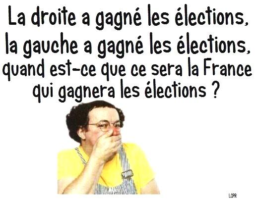 Coluche la gauche gagne, la droite gagne, quand la France gagnera t-elle les élections ?